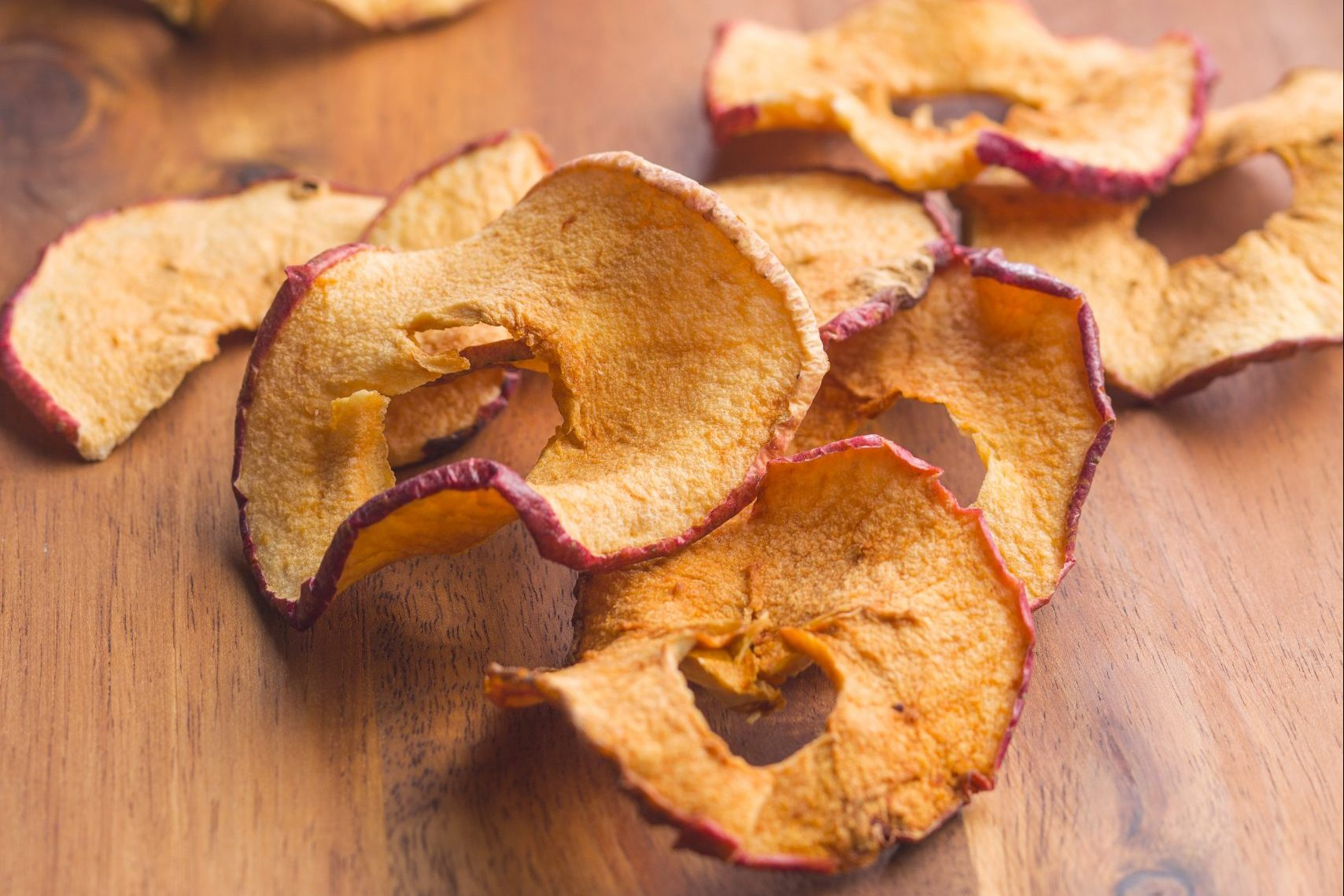 Dried apple slices.